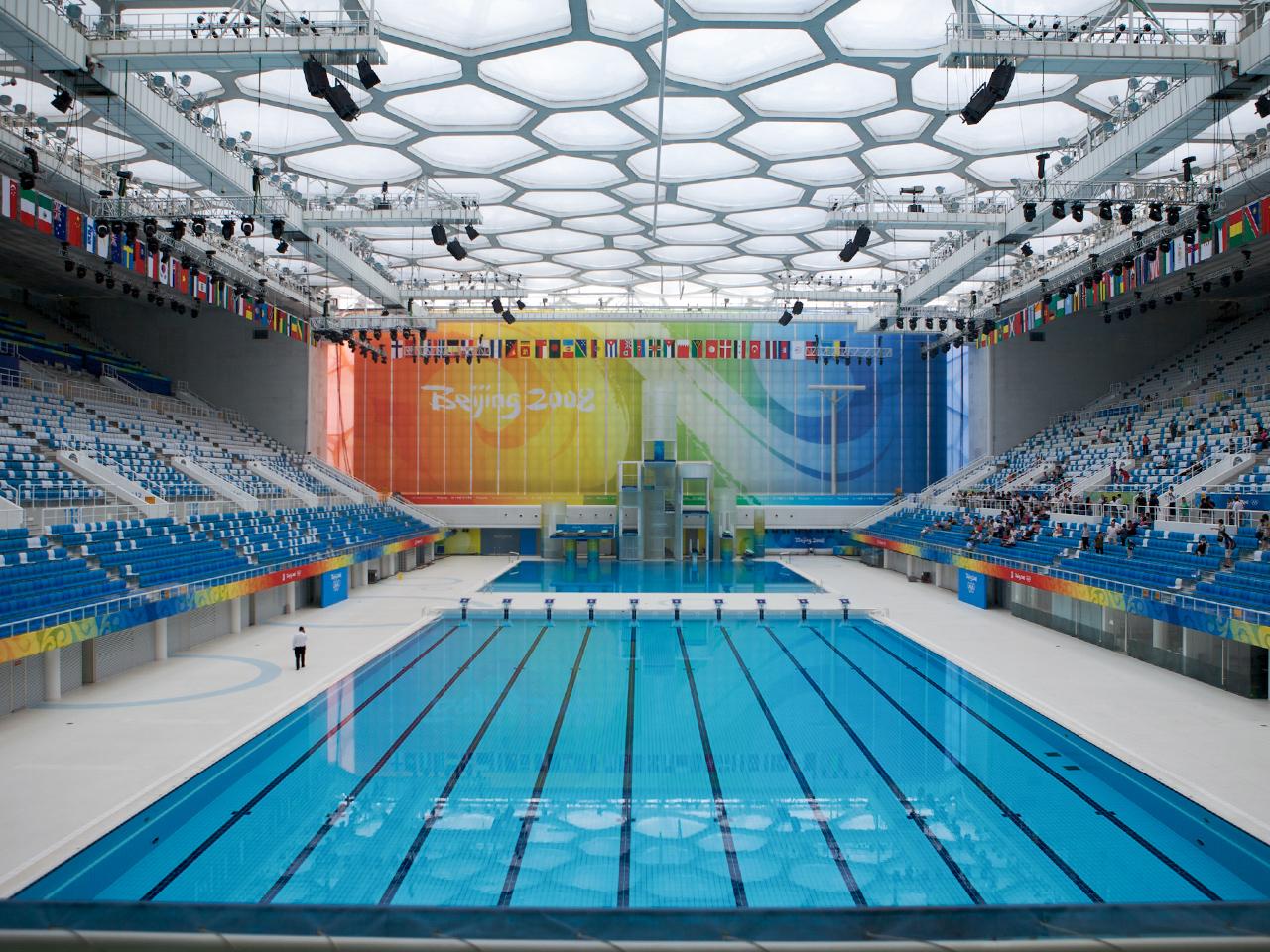北京オリンピック:北京国家水泳センター