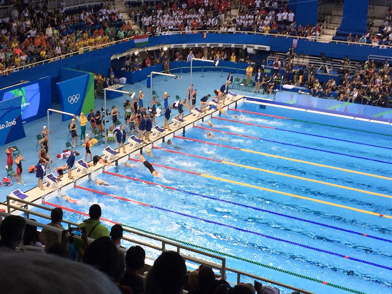 リオオリンピック:マリア連句水泳センター