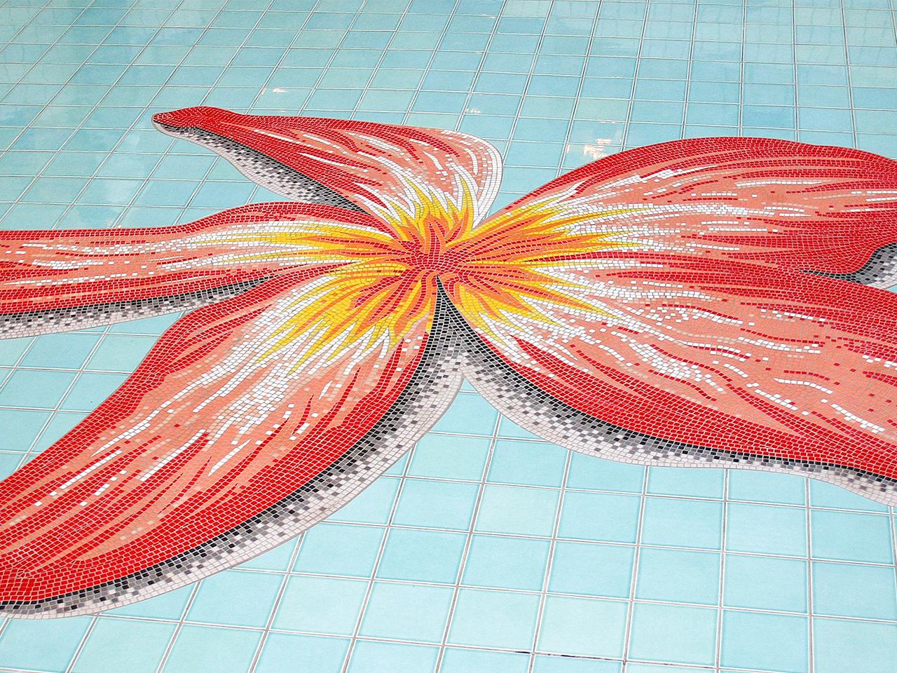 お花のモザイクアート